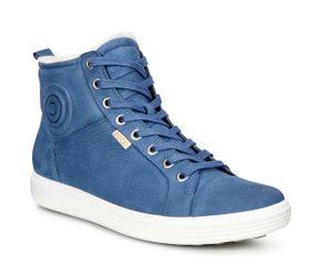 ECCO Soft 7 Ladies Damen Winterschuhe Sneaker warm gefüttert blau