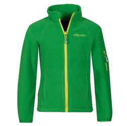 Trollkids  Kinder Fleece Jacke Arendal Jacket grün gelb – Bild 1