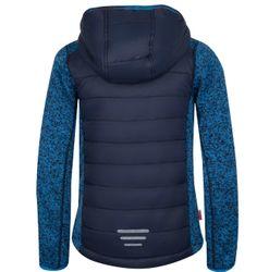Trollkids  Kids Skabu Jacket Kinder Hybrid Strick-Fleece Jacke blau – Bild 2