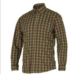 Deerhunter Herren Langarm-Hemd Gavin Shirt Jagdhemd kariert grün rot