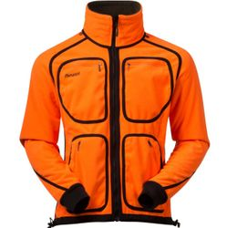 Bergans Rana Reversible Jacket Wende-Fleecejacke olive / orange winddicht – Bild 2