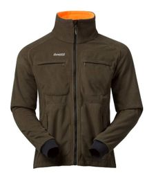 Bergans Rana Reversible Jacket Wende-Fleecejacke olive / orange winddicht – Bild 1