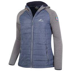 Westfjord Damen Myvatn Jacket Hoody Hybrid Jacke in blau – Bild 1