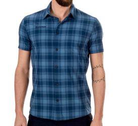 Mammut Herren-Hemd Kurzarm Trovat Trail Shirt Men in blau