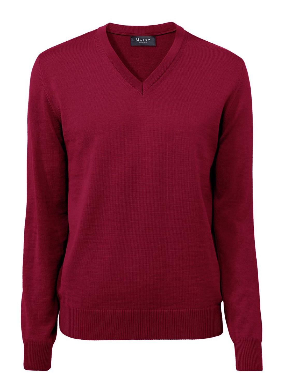 MAERZ Herren Pullover V Ausschnitt Merino Superwash 490400