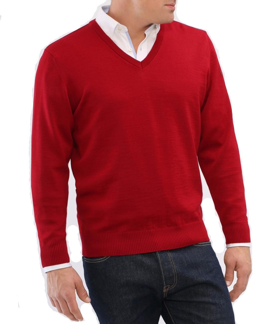 meet 727bc 6454f MAERZ Herren Pullover V-Ausschnitt Merino Superwash 490400-440 Purpur |  Smartkauf-Herrenmode