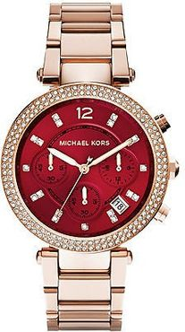 Michael Kors MK6106 Diamond Rose Red Steelband