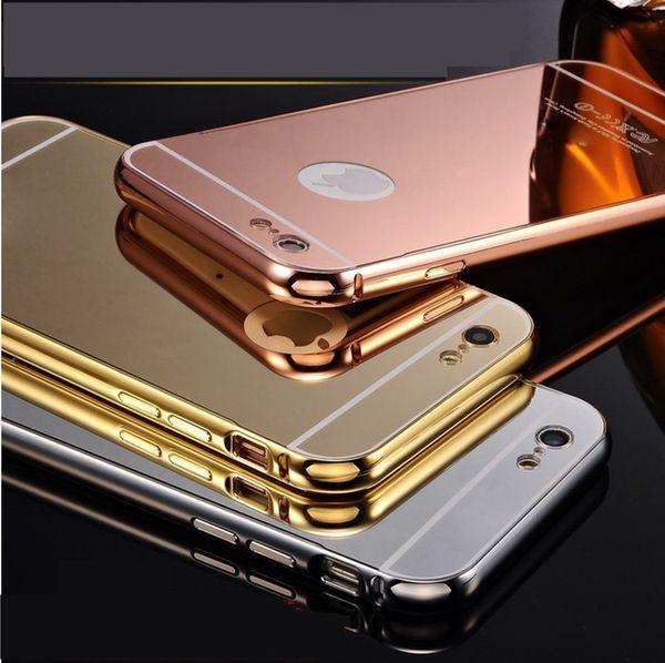 Glamour und LUXUS iPhone 6 Hülle iphone 6S KXX Aluminium Metall Spiegel Bumper  001