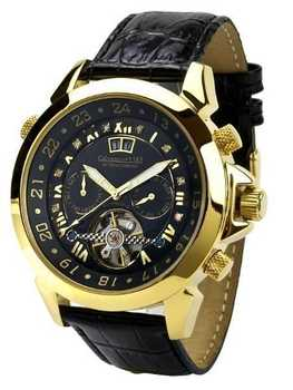 Calvaneo 1583 Astonia DIAMOND Black Gelbgold 001