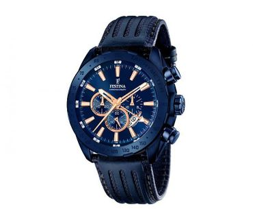 Festina F16898/1 Black and Blue Prestige Chronograph