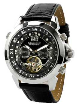 Calvaneo 1583 Astonia DIAMOND Steel Black Automatik