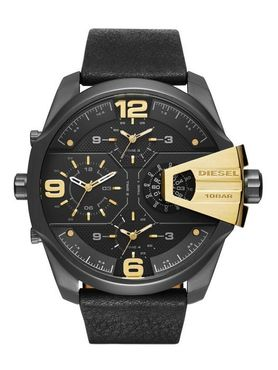 Diesel DZ7377 Mr. Daddy 2.0 Black Gold XL Herren Armbanduhr Lederband