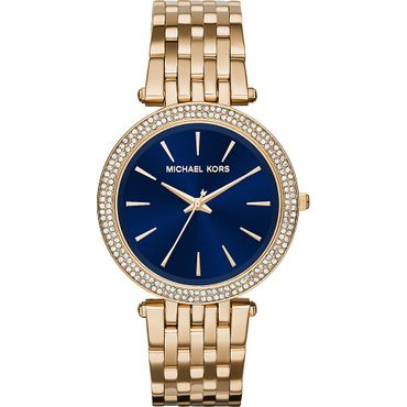 Michael Kors MK3406 Damenuhr Edelstal Gold Blue Diamond