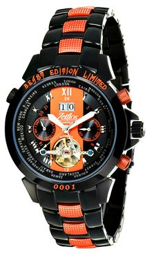 Zeitlos Exzellent Beast Carbon Orange Steelband Referenz ZL-EB-10 BO