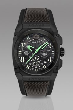 Savoy Midway 41mm Swiss Made Quartz Chrono Black
