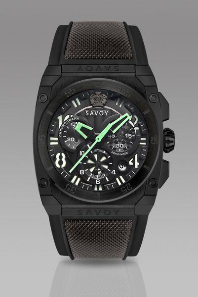 Savoy Midway 41mm Swiss Made Quartz Chrono Black