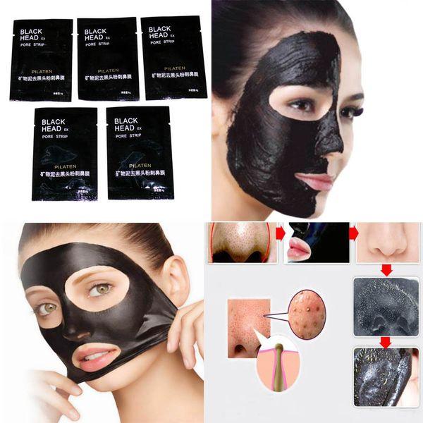 15 x 6ml Black Mask Head Beutel Päckchen Gesichtsmaske Schwarz, Reinigungsmaske