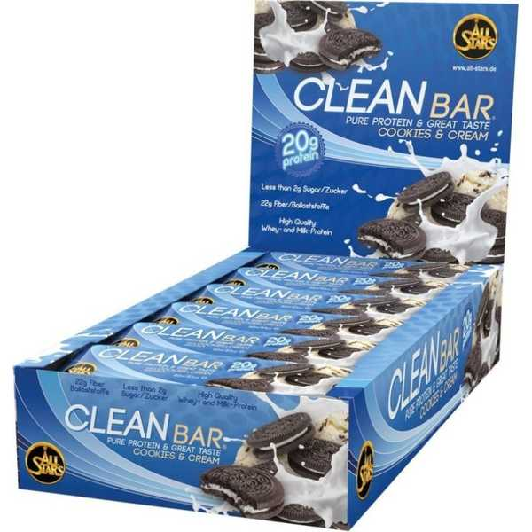 All Stars Clean Bar 18 Riegel a 60 g