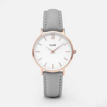 Cluse Minuit Rose Gold White Grey CL30002 CW0101203010