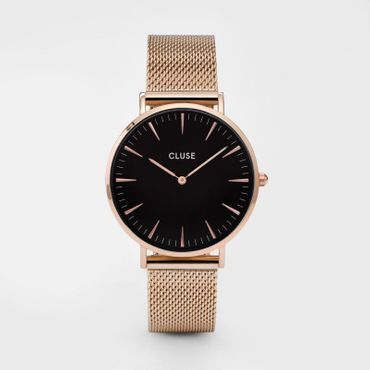 Cluse CL18113 La Boheme Mesh Rose Gold Black