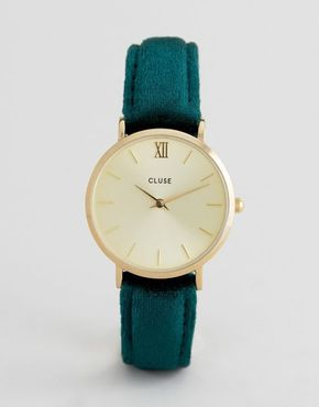 Cluse Minuit Gold/Green Velvet LIMITED EDITION CL30040