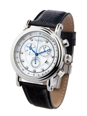 Calvaneo 1583 Chesteem Steel Diamond Perlmutt Chronograph Swiss ISA