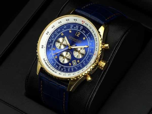 Calvaneo 1583 Defcon Diamond Gold BLUE, (Vergoldet) 001