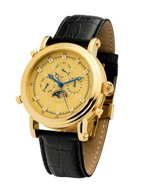"Calvaneo 1583 Estemia ""Gold real Diamond"" Chronograph Swiss Ronda"