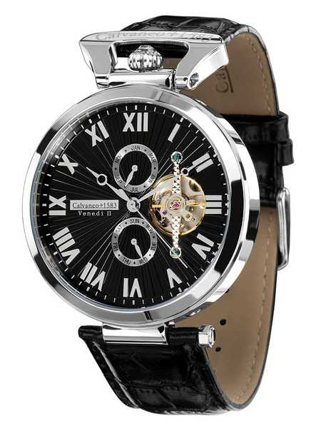 Calvaneo 1583 Venedi Steel Black High Luxury Automatikuhr 001