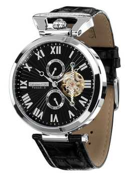 Calvaneo 1583 Venedi Steel Black High Luxury Automatikuhr