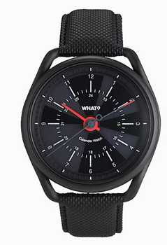Gunmetal Black Calender Watch Smart