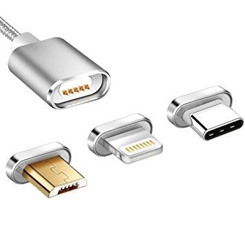 Magnetisches USB Schnell Ladekabel für iPhone oder Android USB C (ähnlich Znaps) 001