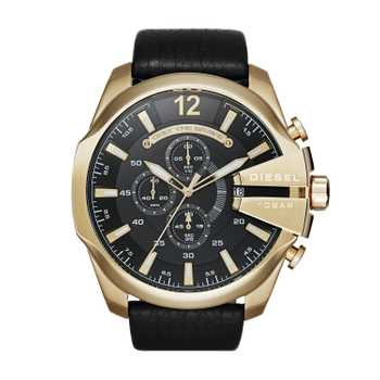 Diesel DZ4344 Mega Chief Gold Black