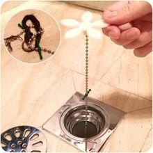 4 Stück Haarfänger für den Abfluss Wasserabfluss Haarfänger mit Kette