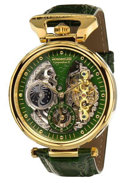 Calvaneo 1583 Compendium Green Gold Squelette Automatikuhr