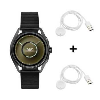 Emporio Armani Connected Matteo ART5009 Smartwatch + 2x Originale Emporio Armani Smartwatch Ladekabel