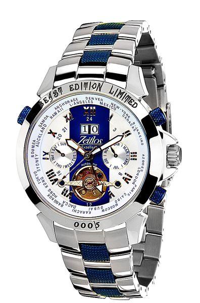 Zeitlos Exzellent Race Edition Blue Steelband ZL-EBE-10 RB