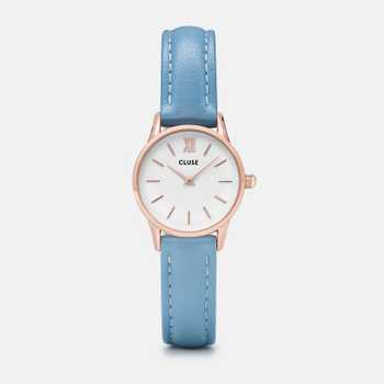 Cluse La Vedette Rose Gold White/Retro Blue CL50026