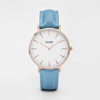 Cluse La Bohéme Rose Gold White/Retro Blue CL18033