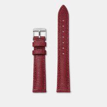 Cluse Armband 16 mm Dunkelrot Eidechse/Silber CLS381