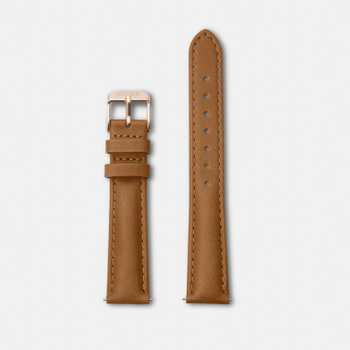 Cluse Strap 16 mm - Caramel/Rose Gold CLS303