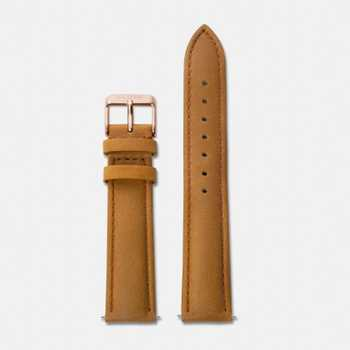 Cluse Strap 18 mm - Caramel/Rose Gold CLS003