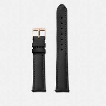 Cluse Strap 16 mm - Black/Rose Gold CLS301