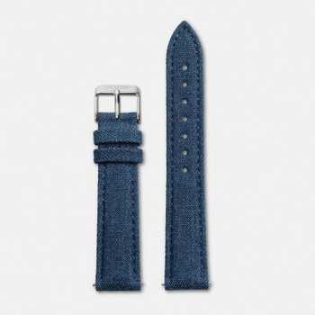 Cluse Strap 18 mm - Blue Denim/Silver CLS031