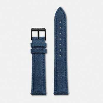 Cluse Strap 18 mm - Blue Denim/Black CLS053