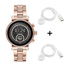 Michael Kors MKT5066 Sofie Jetset Smartwatch + 2x Michael Kors Ladekabel