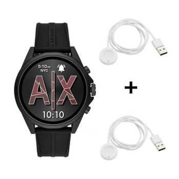 Armani Exchange Drexler AXT2007 Connected Smartwatch + 2x Originale Armani Exchange Smartwatch Ladekabel