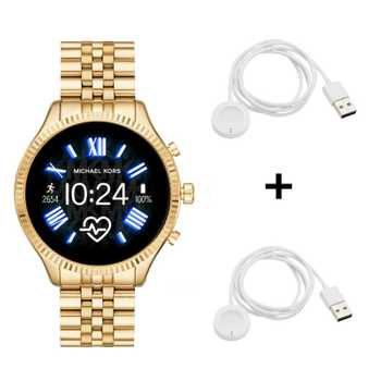 Michael Kors Lexington 2 MKT5078 Smartwatch + 2x Michael Kors Ladekabel