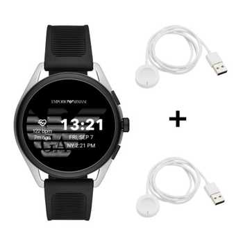 Black Friday Emporio Armani Connected Matteo ART5021 Smartwatch + 2x Black Friday Emporio Armani Ladekabel