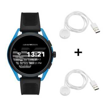 Black Friday Emporio Armani Connected Matteo ART5024 Smartwatch + 2x Black Friday Emporio Armani Ladekabel